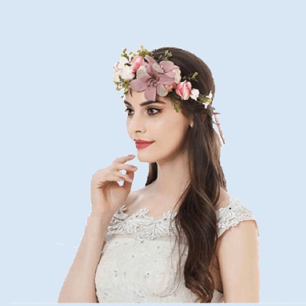 JGA Fotoshooting Ideen Blumenkranz