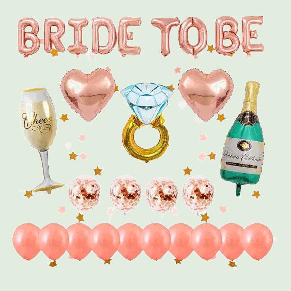 Team Bride Ballons und Accessoires im Set